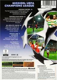 Box back cover for UEFA Champions League 2004-2005 on the Microsoft Xbox.