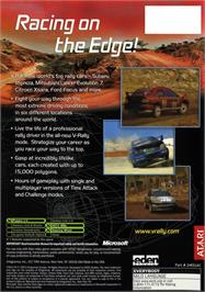 Box back cover for V-Rally 3 on the Microsoft Xbox.