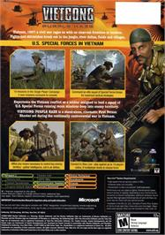 Box back cover for Vietcong: Purple Haze on the Microsoft Xbox.