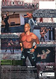 Box back cover for WWE Raw 2 on the Microsoft Xbox.
