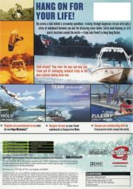 Box back cover for Wakeboarding Unleashed featuring Shaun Murray on the Microsoft Xbox.