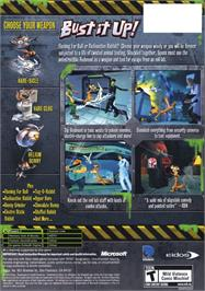 Box back cover for Whiplash on the Microsoft Xbox.