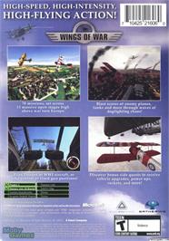 Box back cover for Wings of War on the Microsoft Xbox.
