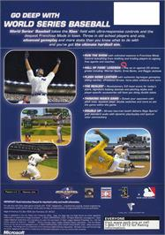 Box back cover for World Series Baseball on the Microsoft Xbox.