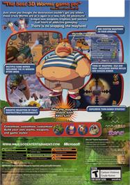 Box back cover for Worms 4: Mayhem on the Microsoft Xbox.