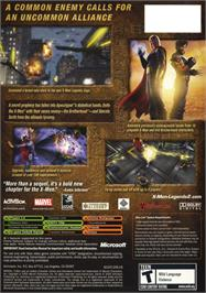 Box back cover for X-Men: Legends II - Rise of Apocalypse on the Microsoft Xbox.