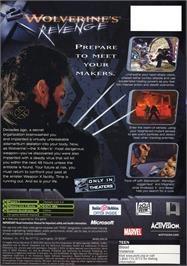 Box back cover for X2: Wolverine's Revenge on the Microsoft Xbox.