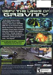 Box back cover for XGRA: Extreme G Racing Association on the Microsoft Xbox.