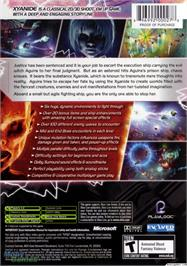 Box back cover for Xyanide on the Microsoft Xbox.