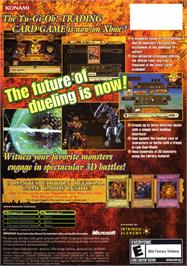 Box back cover for Yu-Gi-Oh!: The Dawn of Destiny on the Microsoft Xbox.