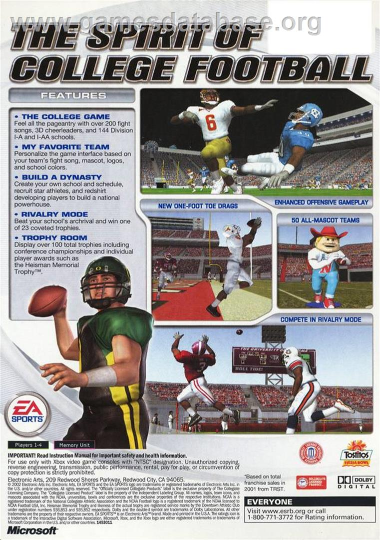 NCAA Football 2003 - Microsoft Xbox - Games Database