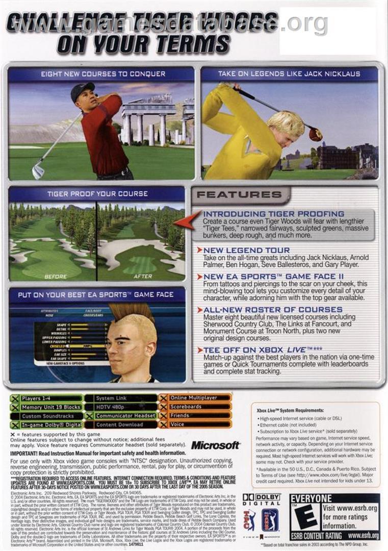 Tiger Woods Pga Tour  Manual Xbox