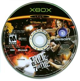 Artwork on the CD for 187: Ride or Die on the Microsoft Xbox.