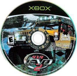 Artwork on the CD for 4x4 Evo 2 on the Microsoft Xbox.