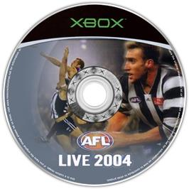 Artwork on the CD for AFL Live 2004 on the Microsoft Xbox.
