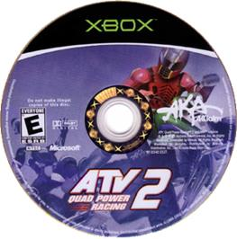 Artwork on the CD for ATV: Quad Power Racing 2 on the Microsoft Xbox.