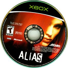 Artwork on the CD for Alias on the Microsoft Xbox.