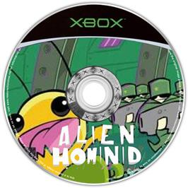 Artwork on the CD for Alien Hominid on the Microsoft Xbox.