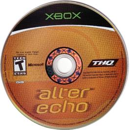 Artwork on the CD for Alter Echo on the Microsoft Xbox.