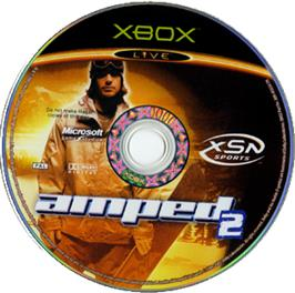 Artwork on the CD for Amped 2 on the Microsoft Xbox.