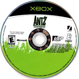 Artwork on the CD for Antz Extreme Racing on the Microsoft Xbox.