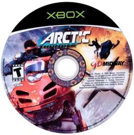 Artwork on the CD for Arctic Thunder on the Microsoft Xbox.