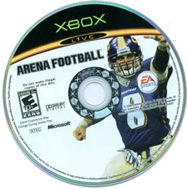 Artwork on the CD for Arena Football on the Microsoft Xbox.