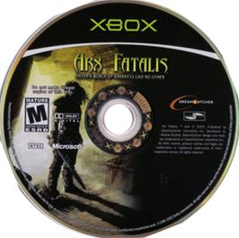 Artwork on the CD for Arx Fatalis on the Microsoft Xbox.