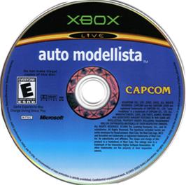 Artwork on the CD for Auto Modellista on the Microsoft Xbox.