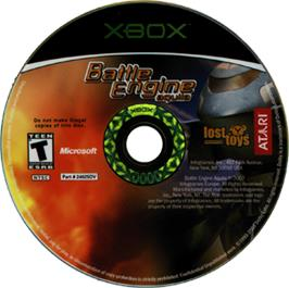 Artwork on the CD for Battle Engine Aquila on the Microsoft Xbox.