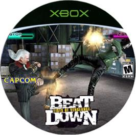 Artwork on the CD for Beat Down: Fists of Vengeance on the Microsoft Xbox.