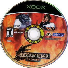 Artwork on the CD for Bloody Roar Extreme on the Microsoft Xbox.