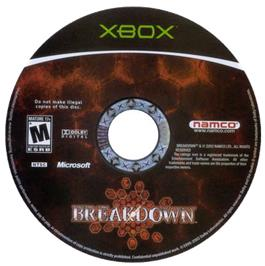 Artwork on the CD for Break Down on the Microsoft Xbox.