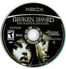 Artwork on the CD for Broken Sword: The Sleeping Dragon on the Microsoft Xbox.