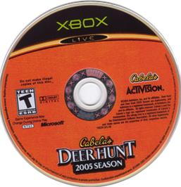 Artwork on the CD for Cabela's Deer Hunt: 2005 Season on the Microsoft Xbox.