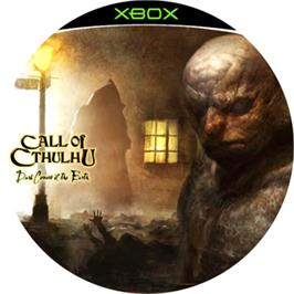 Artwork on the CD for Call of Cthulhu: Dark Corners of the Earth on the Microsoft Xbox.