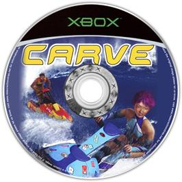 Artwork on the CD for Carve on the Microsoft Xbox.