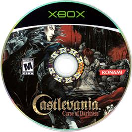 Artwork on the CD for Castlevania: Curse of Darkness on the Microsoft Xbox.