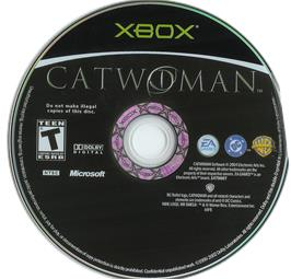 Artwork on the CD for Catwoman on the Microsoft Xbox.