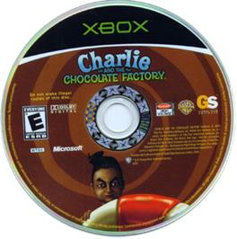 Artwork on the CD for Charlie and the Chocolate Factory on the Microsoft Xbox.