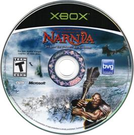 Artwork on the CD for Chronicles of Narnia: The Lion, the Witch and the Wardrobe on the Microsoft Xbox.