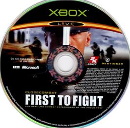 Artwork on the CD for Close Combat: First to Fight on the Microsoft Xbox.