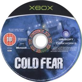Artwork on the CD for Cold Fear on the Microsoft Xbox.