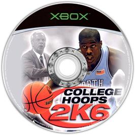 Artwork on the CD for College Hoops 2K6 on the Microsoft Xbox.