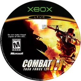 Artwork on the CD for Combat: Task Force 121 on the Microsoft Xbox.