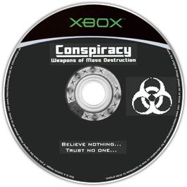 Artwork on the CD for Conspiracy: Weapons of Mass Destruction on the Microsoft Xbox.