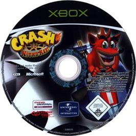 Artwork on the CD for Crash Nitro Kart on the Microsoft Xbox.