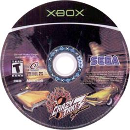 Artwork on the CD for Crazy Taxi 3: High Roller on the Microsoft Xbox.