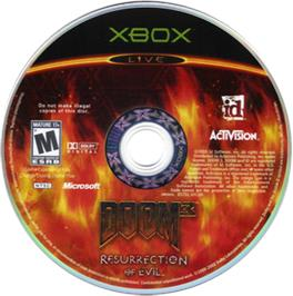 Artwork on the CD for DOOM³: Resurrection of Evil on the Microsoft Xbox.