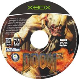 Artwork on the CD for DOOM³ (Limited Collector's Edition) on the Microsoft Xbox.